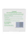 Cetaphil Rich Hydrating Night Cream with Hyaluronic Acid BOX - BACK